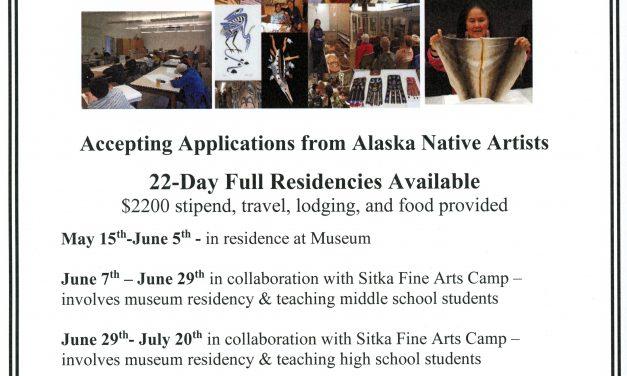 Alaska Native Artist Residency Applications Available!